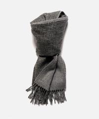 [Joshua Ellis] TCS50701/scarf Glen check x Plain (Glen 1 white black x 297grey)
