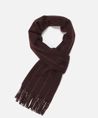 [Joshua Ellis] CP50667/scarf Heritage Chalk Stripe  (bourgogne x fudge)