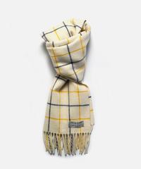[Joshua Ellis] CP50016/scarf Tattersall (white x yellow x soho blue )