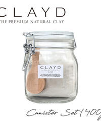 CLAYD クレイド 高品質クレイ入浴剤 キャニスター400 約13回分 泥パック デトックス
