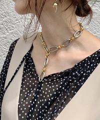seadsmara シーズマーラ/double oval mix necklace