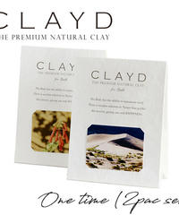 CLAYD クレイド 高品質クレイ入浴剤 ワンタイム(2個) 30g×2袋 2回分 泥 パック デトックス
