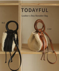 TODAYFUL (トゥデイフル)/ Leather x Boa Shoulder Bag /【12021011】
