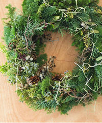 森のクリスマスリース