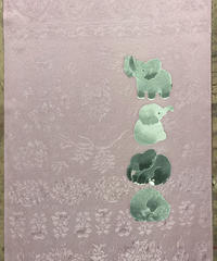 染め名古屋帯「ダンボワールド」(仕立て代、送料込み) 4-028