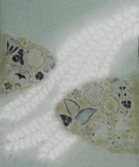 絞り染め名古屋帯「辻ヶ花・雲取り藤流れ模様」(税込み・仕立て代込み) 1-001