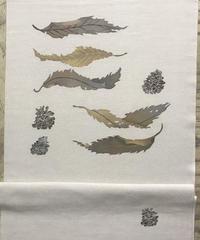 染め名古屋帯「Autumn Leaves」(仕立て代、送料込み)  3-003