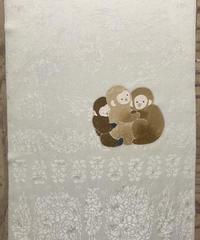 染め名古屋帯「縁ありて」(仕立て代、送料込み)  4-008