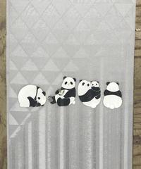 染め名古屋帯「パンダの休日」(仕立て代、送料込み)  4-011
