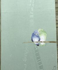 染め名古屋帯「マメルリハ・ランデブー」(仕立て代、送料込み )    4-002