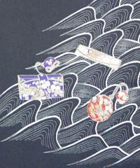 染め名古屋帯「江戸解はこせこ」(税込み・仕立て代込み)  3-006