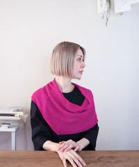◆即納◆Rubidea[ルビデア] スヌード・ケープ3 / フューシャ・ピンク