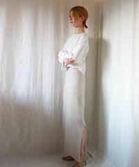 ◆受注制作◆Zavijava[ザビヤバ] シルクモヘア・スカート / ベージュ系3