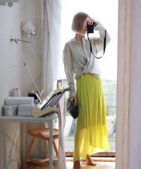 ◆即納◆Diphda[ディフダ] マキシ丈ラップ・スカート / ブルー・イエロー
