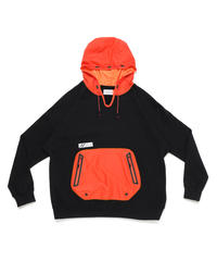 DRAW CODE HOODED PULL JERSEY c/#3 BLK X ORN