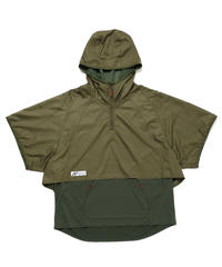LAYERED HOODED WIDE PULL S-SLEEVE c/#2 KHAKI