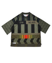 FOOTBALL WIDE SHIRTS # c/ KHAKI_stripe