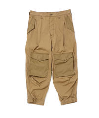 ONE-PLEATS CARGO TROUSERS # c/SAND