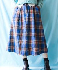 【tiny yearn】Blue Big Check Wool Skirt