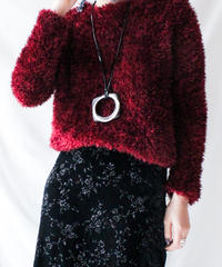 【Seek nur】Euro Shaggy Knit Sweater