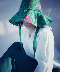 【Sway】<Green base・Pink floral> Boonie Hat