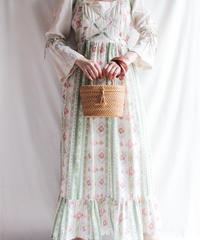 【Seek nur】1970's Gauze Maxi Dress