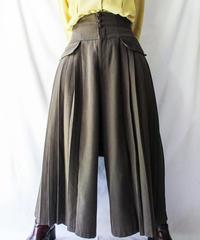 【Seek nur】Side Pleats Design Wide Pants