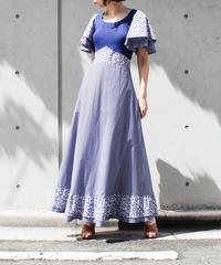 【Seek an nur】Euro Flower Lib Maxi Dress