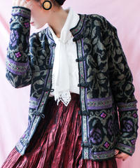 【tiny yearn】China Design Chenille Knit Cardigan