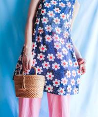 【tiny yearn】Handmade Flower Sheer Dress