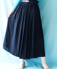 【tiny yearn】Euro Black Sheer Flare Skirt