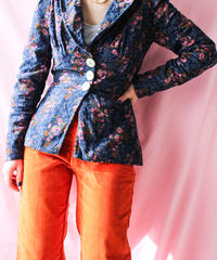 【tiny yearn】1970's Euro Flower Corduroy Tailored Jacket
