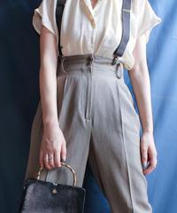 【Seek nur】Open collar Sheer Blouse