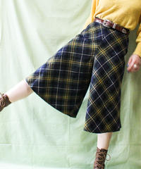 【tiny yearn】Euro Check Wool Wide Pants