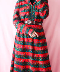 【tiny yearn】1970's Euro Embroidery Knit Dress