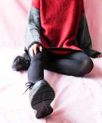 【tiny yearn】Bicolor Mohair Over Sweater