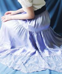【Seek an nur】Italy lace Design Satin Skirt