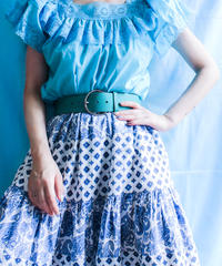 【tiny yearn】Flare Sleeve Frill Lace Tops