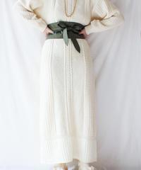 【Seek nur】France Cable Knit Maxi Dress