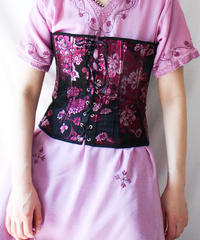 【Seek an nur】Flower Embroidery China Bustier