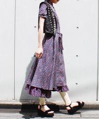 【Seek an nur】Euro Puff sleeve Flower Long Dress