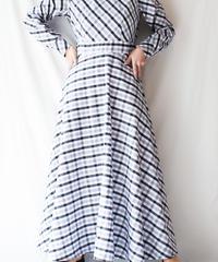 【Seek an nur】Check Flare Maxi Dress