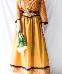 【Seek nur】1970's Handmade Flower Maxi Dress