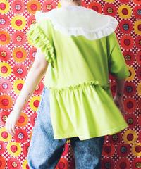 【tiny yearn】Frill Design Remake T-shirt/Light green