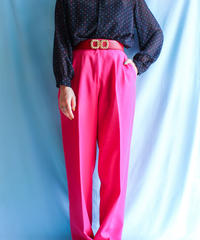 【tiny yearn】Neon Pink  Tapered Pants