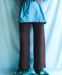 【tiny yearn】1970's Dot Knit Wide Pants