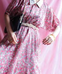 【tiny yearn】Quaker Collar Flower Dress