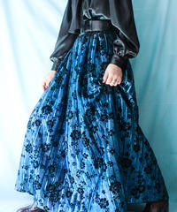【tiny yearn】Euro Metallic Flower Long Skirt