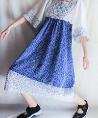 【Seek nur】70's Flower Quilting Dress