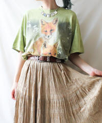 【tiny yearn】THE MOUNTAIN  Tiedye Foxes T-shirt